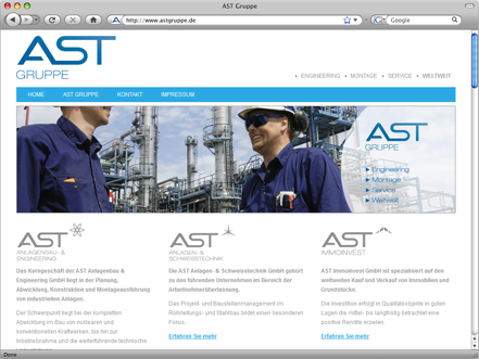 Referenz: AST Gruppen-Website
